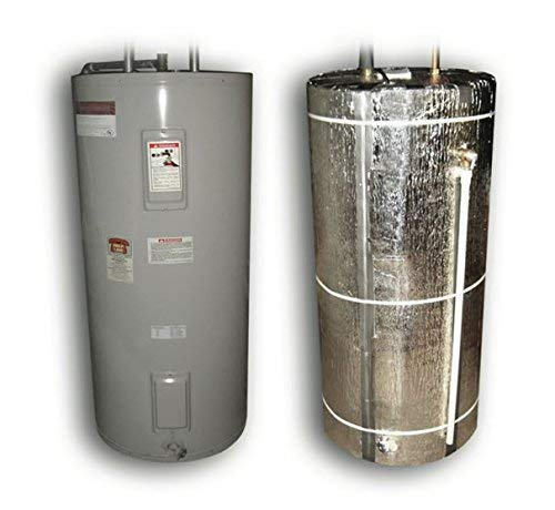 Product Image of the US Energy NASATECH 'Non Fiberglass' Up to 80 Gallon Water Heater Insulation Jacket Kit (42sqft) (Made in the USA) Includes: Reflective Foam Core Insulation & Aluminum Foil Seam Tape