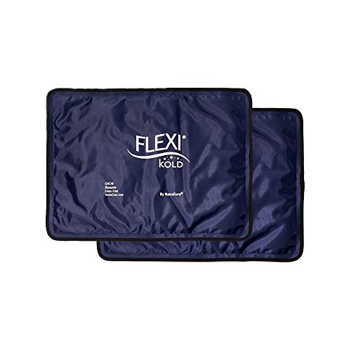 """FlexiKold Gel Ice Pack (Standard Large: 10.5"""" x 14.5"""") - Two (2) Reusable Cold Therapy Packs (for Pain and Injuries to Knee, Shoulder, Foot, Back, Ankle, Neck, Hip, Wrist) - 6300-COLD"""