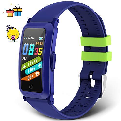 moreFit Fitness Armband Kinder,Fitness Tracker mit Blutdruck Pulsmesser Fitness Uhr Kinder Aktivitätstracker Schrittzähler Sportuhr für Jungen Mädchen für Android iOS Smartphone