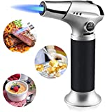 MayuFit Butane Torch, Refillable Kitchen Cooking Blow Torch with Safety Lock and Adjustable