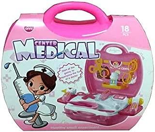 KIDS DOCTOR PLAY SET ROLE PLAY DRESS UP KIT 18 PCS FANCY DOCTORS CHILDREN PRETEND PLAYSET -PINK