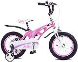 LIUXR Bicicletas Infantiles niña niño 3-9 años Freestyle 12 14 16 18 Pulgadas Ruedas auxiliares Bicicleta para niños,Pink_16inch