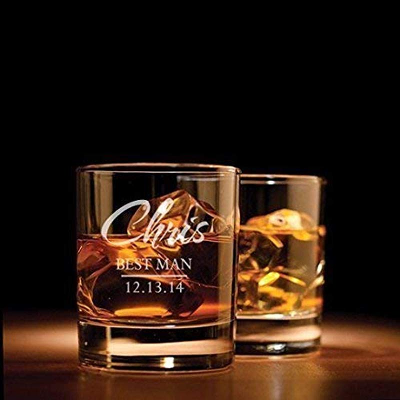 Groomsman Gifts Bestman Gifts Wedding Favors Whiskey Glasses Father Of The Bride Gift Best Man Gift Whiskey Glass Wedding Gift Groom Gift Personalized Whiskey Glass