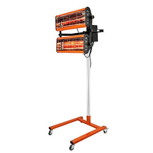 2x1000W Secador de pintura corporal por infrarrojos 2 lámparas de secado área de secado 800 x 800 mm 40–100 ° C 220V lámpara de calentamiento cabina de pintura