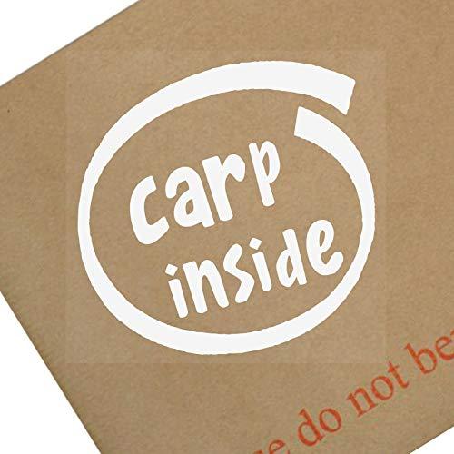 Platina Plaats 1 x Karper Inside-Window,Auto,Van,Sticker,Teken,Voertuig,Vissen,Vis,Vissers,Meer,Rob,Bait,Maggot,Tent,Camp,Angler,Cat,Mirror,Ghost,Common