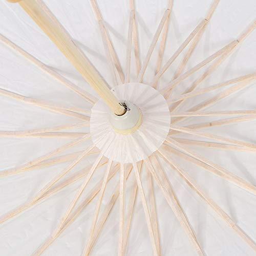 Evonecy Paraguas de Papel, Paraguas de Papel Decorativo, Madera Saludable, decoración de Bricolaje para Exteriores para Accesorios de fotografía y Decoraciones de Boda(Approximately 59cm in Diameter)