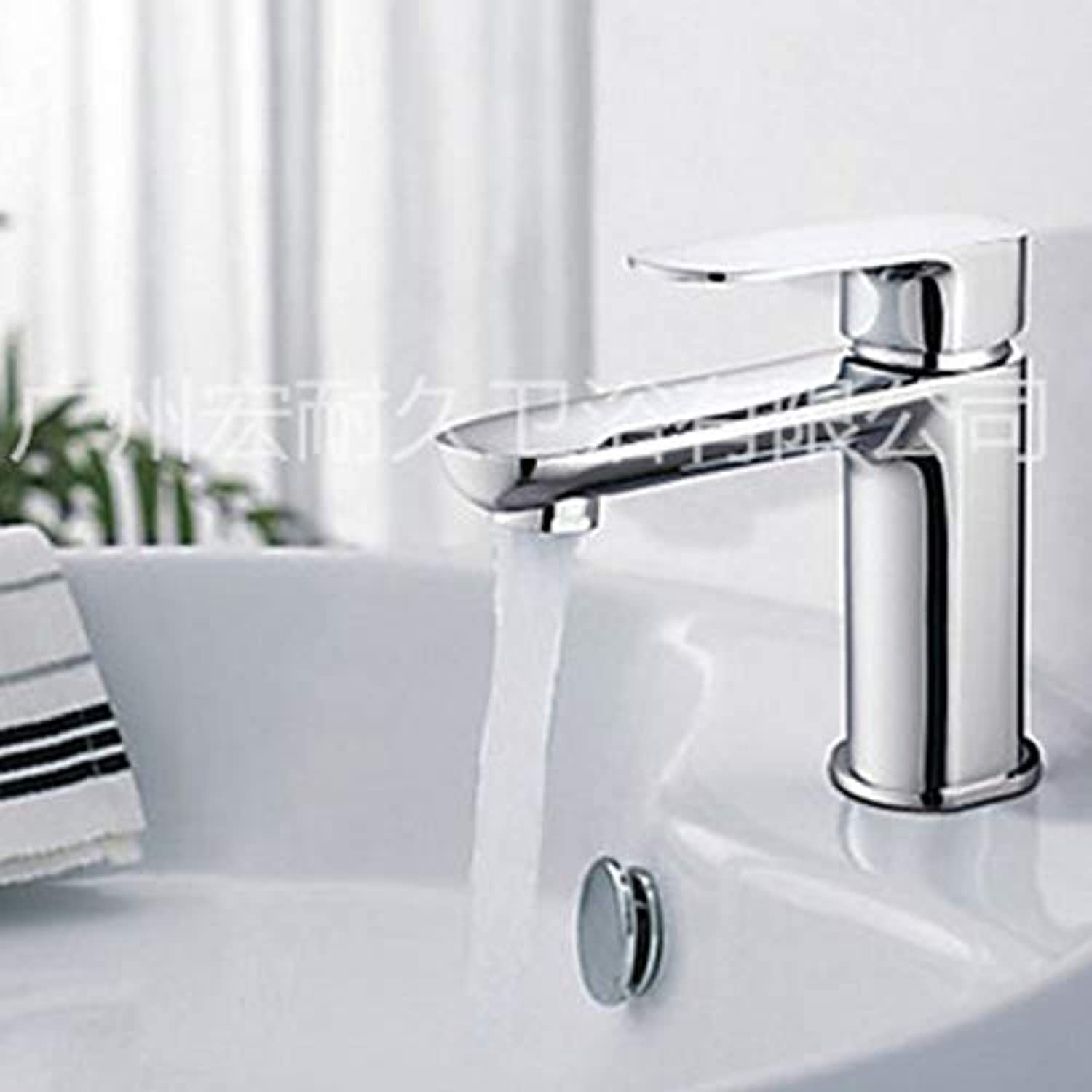 redOOY Diy???Bathroom Sink Taps Taps Faucet Basin Faucet Single Hole Bathroom Basin Faucet Hot and Cold Faucet
