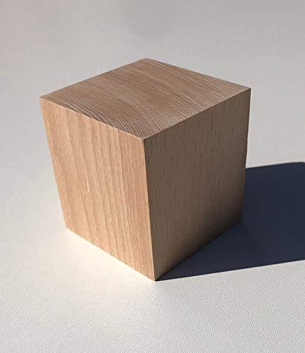 1 Holzwürfel Buche massiv 60x60x60mm. Kantholz Drechselholz. Sondermaße.