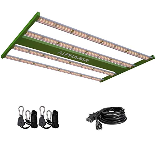 CDMALL LED Grow Lights Full Spectrum 400W AlphaPar Sunlike Linear LED Grow Strips Pro Series Grow Lamps for Indoor Hydroponics Growing Kit