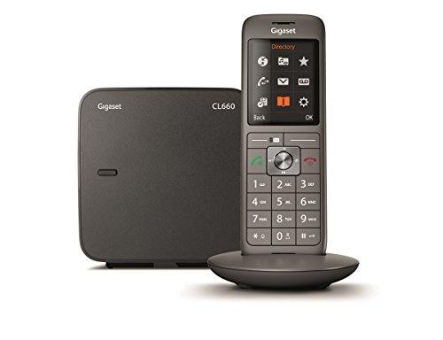 Gigaset CL660 Analog DECT telephone Antracita Identificador de llamadas - Teléfono (Analog DECT telephone, Terminal inalámbrico, Altavoz, 400 entradas, Identificador de llamadas, Antracita)