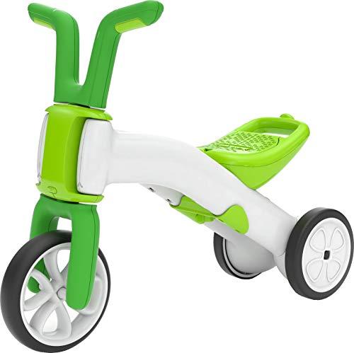 Chillafish Bunzi Laufrad und Dreirad, 2-in-1 Spielfahrzeug für 1-3-jährige, höhenverstellbares baby Dreirad und erstes Laufrad in einem, leise nicht markierende Räder - Lime/Weiss