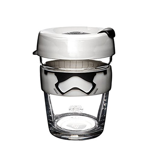 KeepCup Star Wars Brew, Reusable Glass Cup, Medium 12oz | 340mls, Stormtrooper