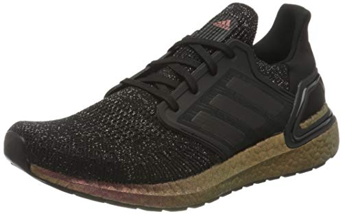 adidas Ultraboost 20 W, Zapatillas para Correr para Mujer, Core Black Core Black Signal Pink, 44 2/3 EU