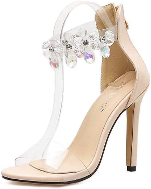 Sandales Sandales Sandales transparentes, skor de cheville, skor à orteil, skor de plage à air comprimé  spara upp till 70%