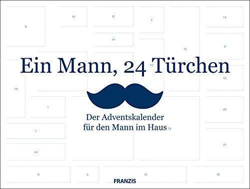 FRANZIS Ein Mann, 24 Türchen: Der Adventskalender für den Mann im Haus | Ab 14 Jahren