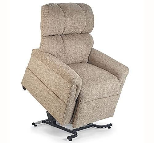 """Golden Technologies Comforter PR531-T28 Extra Wide 28"""" Tall PR-531 Heavy Duty Dual Motor 500 lb. Weight Capacity Power Lift Chair Recliner - Sandstorm Tan Fabric - in-Home Delivery and Setup"""
