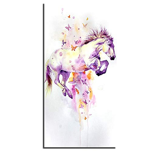 LJFYXZ Decoración De Arte De Pared Imprime Imagen de Alta Definición Decoración de Fondo La Imagen Está Impresa en Una Tela no Tejida Dormitorio Salón Porche Mural Caballo Mariposa Cartel Tipo