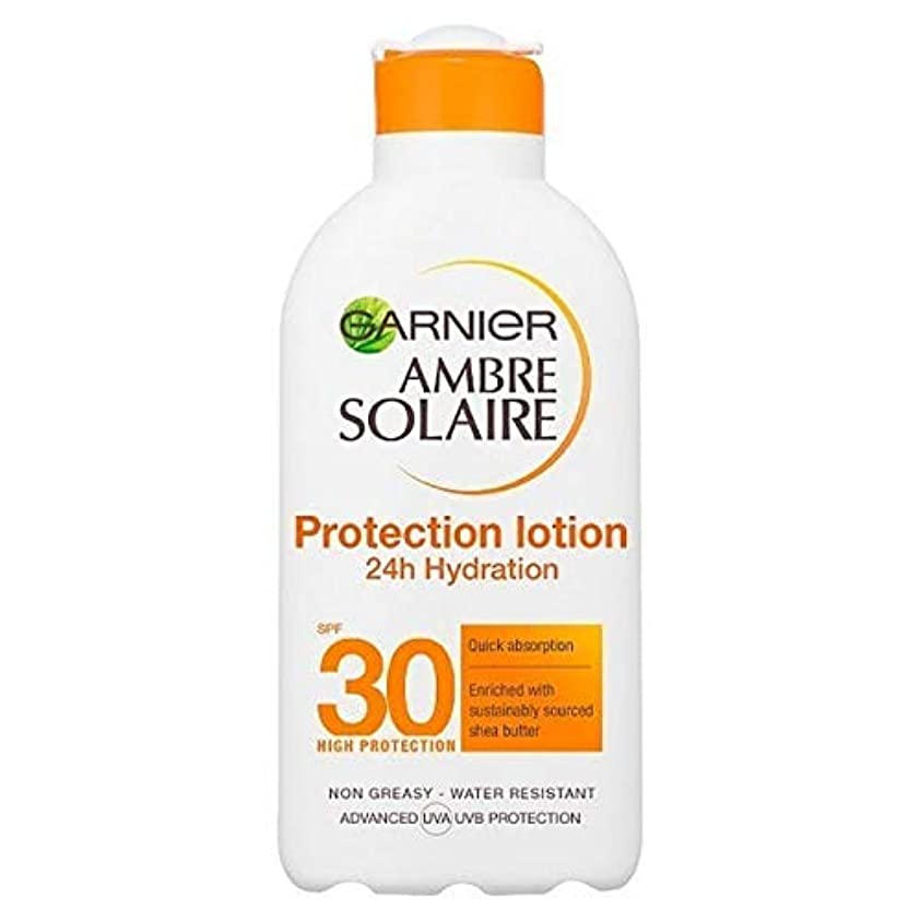 デュアル折り目取り出す[Garnier ] アンブレSolaire超水和日クリームSpf30の200ミリリットル - Ambre Solaire Ultra-hydrating Sun Cream SPF30 200ml [並行輸入品]