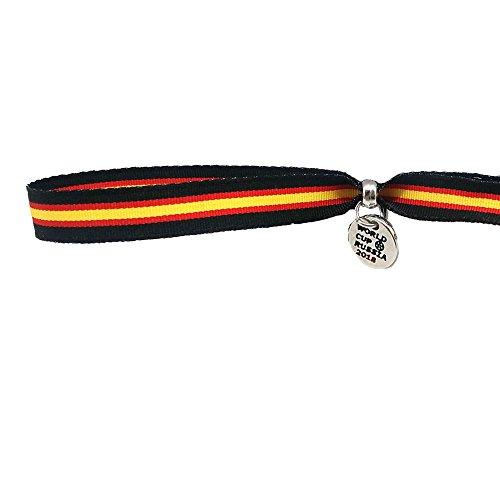Pulsera de Bandera de España (Negro), de Tela Ultra Resistente y Lava