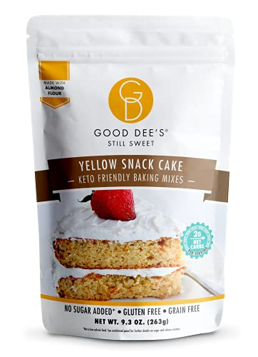 Good Dees Low Carb Baking Mix, Yellow Snack Cake Baking Mix, Keto Baking Mix, No Sugar Added, Gluten Free, Grain-Free, Soy-Free, Diabetic, Atkins & WW Friendly (2g Net Carbs, 12 Serving)