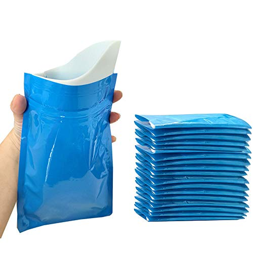 CLOUDBERG 20pack Emergency urinal Bag for children and kids disposable urine bag for men and women600ml portable pee bag for travel traffic jam brief relief