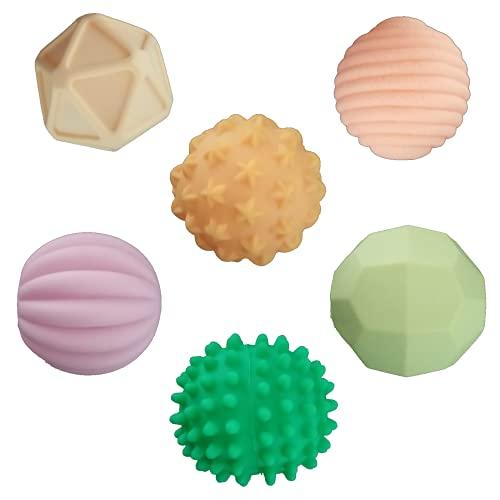 Juguete de Baño Pelotas Sensoriales de Mano para Bebé   Bolas Sensoriales para Bebés Juguetes Bebe 6 Meses a 1 año Multi Textura. Pelota Educativa Infantil Juguete de Baño Suave con Sonido