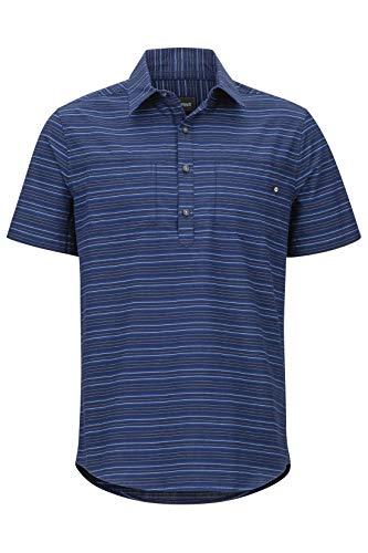 Marmot M Euclid Short-Sleeve Gestreift-Blau, Herren Polo Shirt, Größe M - Farbe Arctic Navy