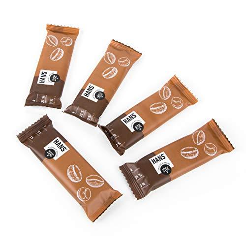 HANS Bio-Hanfriegel - Kaffee & Maulbeere 24x35g | VON EIGENEN HANFFELDERN IN DE & AT | 20% Protein - 140mg Koffein - 0% Industriezucker | Brainfood - Energieriegel - Proteinriegel - Koffeinriegel |