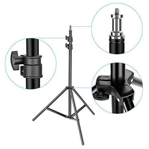 Neewer 14 inches Dimmable Fluorescent Ring Light with 190cm Light Stand and Mini Ball Head Kit for Youtube Self-Portrait Make-up Video Shooting