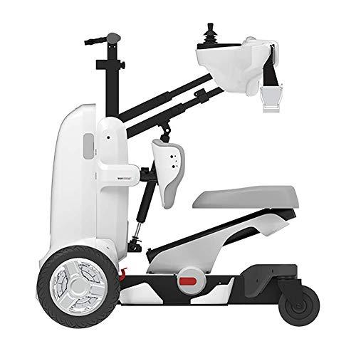 Coche de pie con Robot Silla de Ruedas Eléctrica Equipo de Entrenamiento de Rehabilitación con Ejercicio Inteligente Caminante Paraplejia Discapacitados Scooter