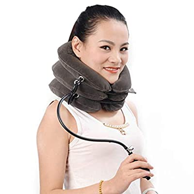 Cervical Traction Inflatable Treatment of Cervical Vertebra Retractor Home Cervical Lift and Massage Massager Cervical Sleeve Medical Orthodontic Neck Protection