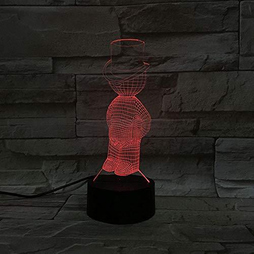 Veilleuse 3D-Télécommande Winnie L'Ourson Veilleuse Illusion 3D/Lampe De Chevet Enfant/Éclairage Intérieur/Lampe De Table Et Lampe De Chevet/Cadeau Enfant