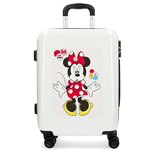 Disney Enjoy The Day Equipaje Infantil, 55 cm, 37 litros, Blanco
