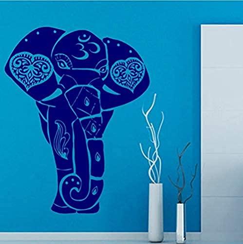 41 x 53 cm elefante indio etiqueta de la pared animal extraíble vinilo etiqueta de la pared decoración personal del hogar