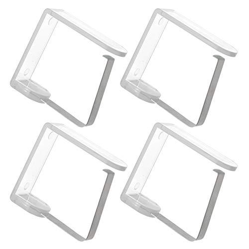 ORION Tischdeckenklammern 4 Stück Clips Halter für Tischdecke Tisch Flexibel Tischtuch Clips, Ideal für Restaurant Hochzeiten Geeignet für 2,5-3,5 cm