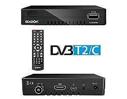 Edision progressiv hybrid lite DVB-C Kabelreceiver für digitales Kabel-Fernsehen (Full-HD, HDMI, USB 2.0, Mediaplayer, WLAN optional)