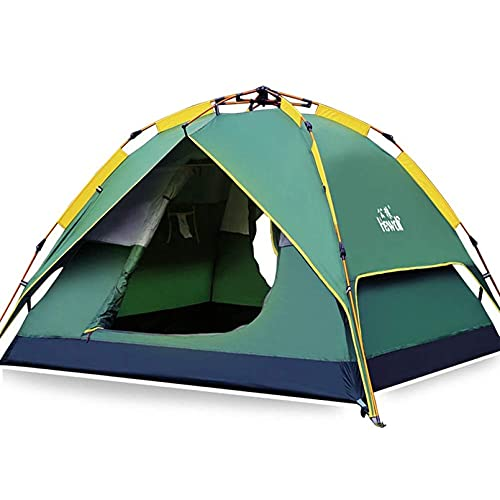 HEWOLF Automatic Camping Pop-up Tent 2-3 Person Instant Setup Hydraulic...