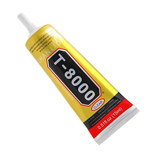 MMOBIEL T-8000 Mehrzweck Flüssig Kleber High Performance Industrie Klebstoff transparent inkl. Präzisionstipp für sauberes Arbeiten (15ML / 0,51 oz)