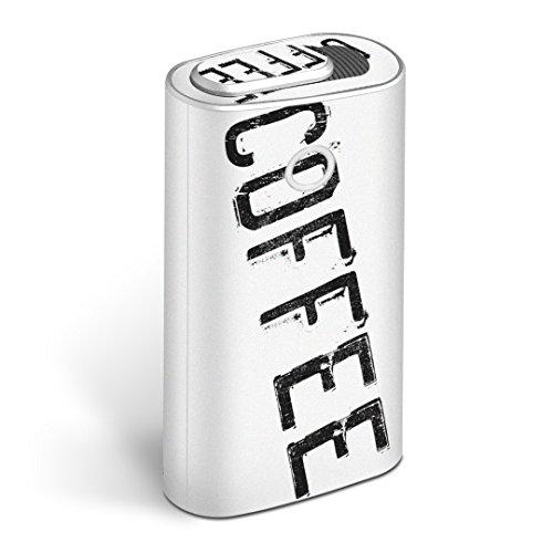 glo グロー グロウ 専用スキンシール 全面 + 天面 + 底面 360°フルセット カバー ケース 保護 フィルム ステッカー デコ アクセサリー 電子たばこ タバコ 煙草 デザイン コーヒー 英語 文字 013225