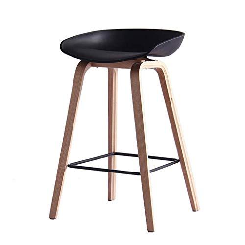 Decoración de muebles, sillas altas para bebés, barra nórdica, mostrador de cocina, cojín de plástico, silla moderna para el hogar, desayuno, recepción, silla con patas de madera resistentes, tabur