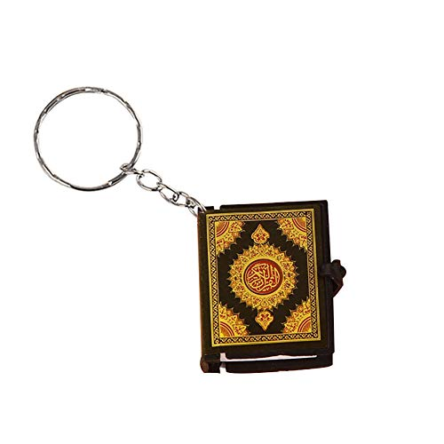 ZqiroLt Schlüsselkette, Legierung, PVC, Papier Schlüsselring Armbänder Armband Schlüsselbund Armreif Schlüsselring-Mini Quran Arabisch Anhänger Schlüsselbund Golden