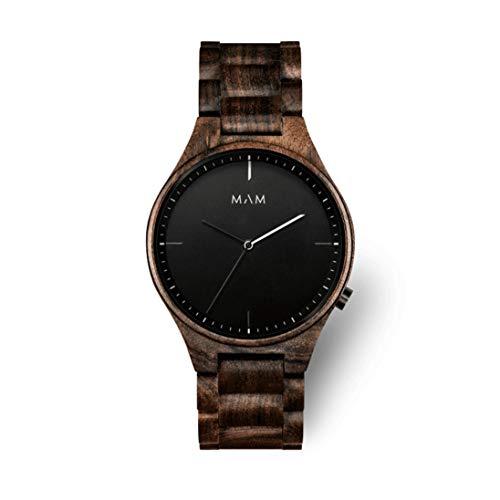 MAM Originals Herren Uhr Analog Quarz-Citizen GL30 mit Holz Armband Owl Black