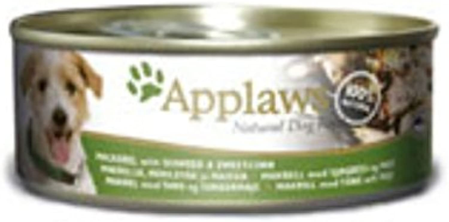 Applaws Dog Mackerel With Seaweed & Sweetcorn 156g pack of 16