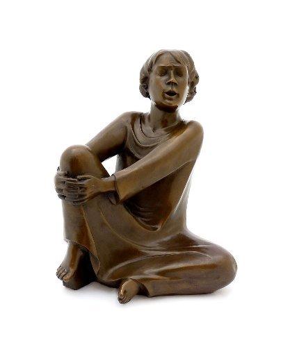 Kunst & Ambiente - Moderne Bronzefigur - Der singende Mann (1928) - signiert - Ernst Barlach Skulptur - Deutscher Bildhauer - Figur