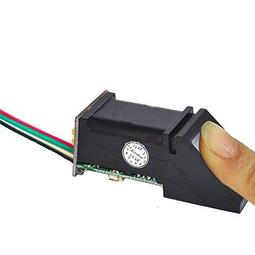Tolako Módulo de sensor de reconocimiento de huellas digitales serie para MSP430/51/AVR/PIC/STM32/ARM/FPGA/Arduino/pcDuino