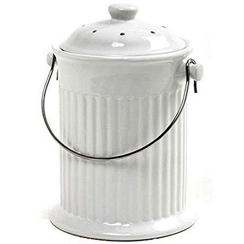 Norpro, White , 1 Gallon Ceramic Compost Keeper, One Size