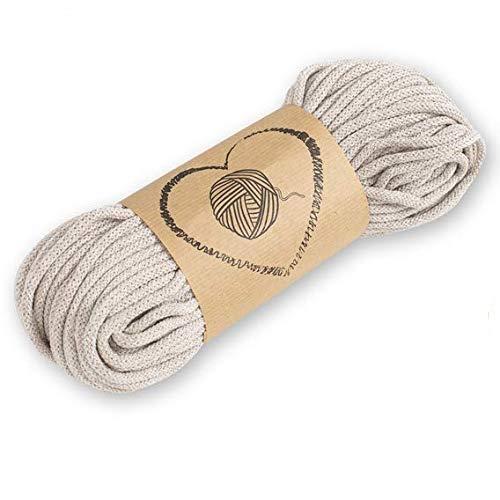 hilo macrame cuerda algodon - hilos para macrame 3mm beige