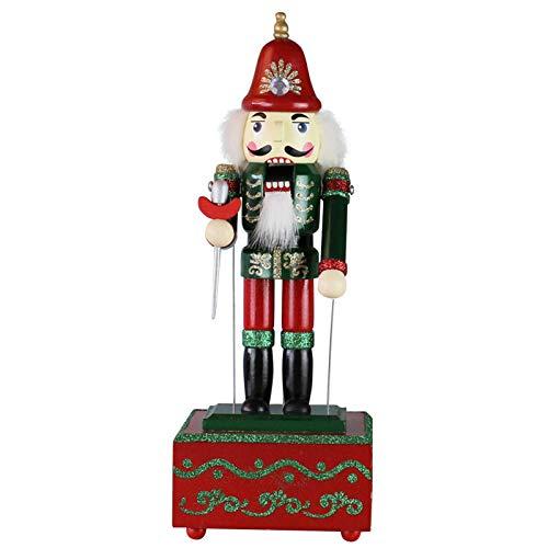 shuaiyin Weihnachten Nussknacker 32cm Exquisite bemalte Holz Nussknacker Spielzeug Spieluhr, Nussknacker Home Weihnachtsdekor Ornamente Geschenk