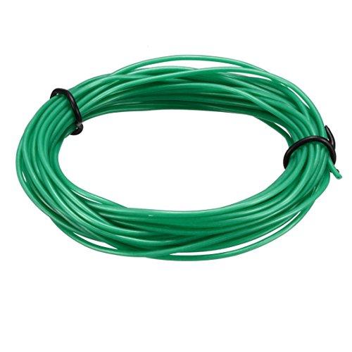 sourcing map Cable de extensión Cable de alambre Calibre 28 AWG Cable de cobre trenzado flexible Cable de silicona 5M Longitud Verde para RC