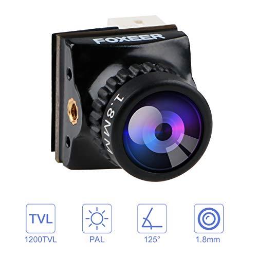 FPV Kamera: Foxeer Razer Nano 1200TVL 1,8-mm-Objektiv 1/3-Zoll-CMOS-Kamera 4: 3 FOV 125-Grad-PAL Geringe Latenz für Racing Drone Black
